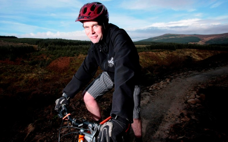 Ian Jones on the `red' mountain bike route at Kielder