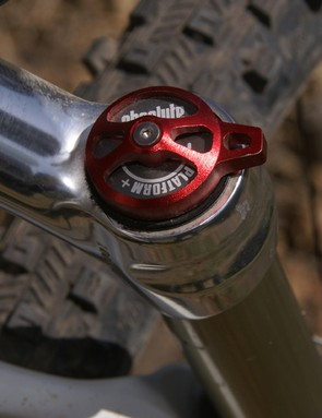 Manitou's new Absolute platform damper is easily adjusted on the fly.