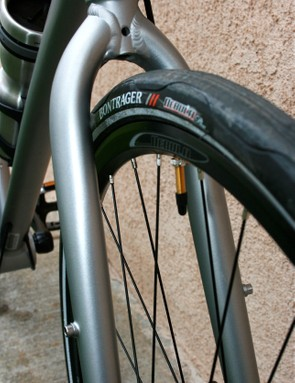 Fat tyres, and ample mudguard room.