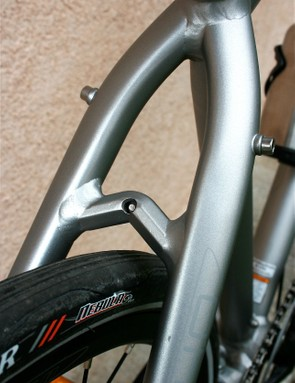 The industrial design continues with the seat stays.