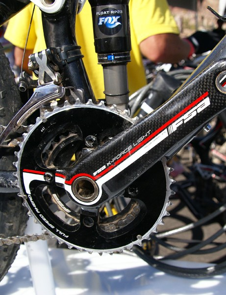 Legs not included: the top-end Top Fuel 9.9 SSL will come with a 2x9 FSA crankset with more narrowly set arms.