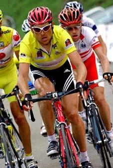 CYCLING : TOUR OF SUISSE 2004 ULLRICH Jan ( GER ) YELLOW JERSEY MAILLOT JAUNE GELE TRUISTAGE 6 : FRUTIGEN - LINTHALETAPE RIT TOUR DE SUISSE / RONDE VAN ZWITSERLAND SWITZERLAND