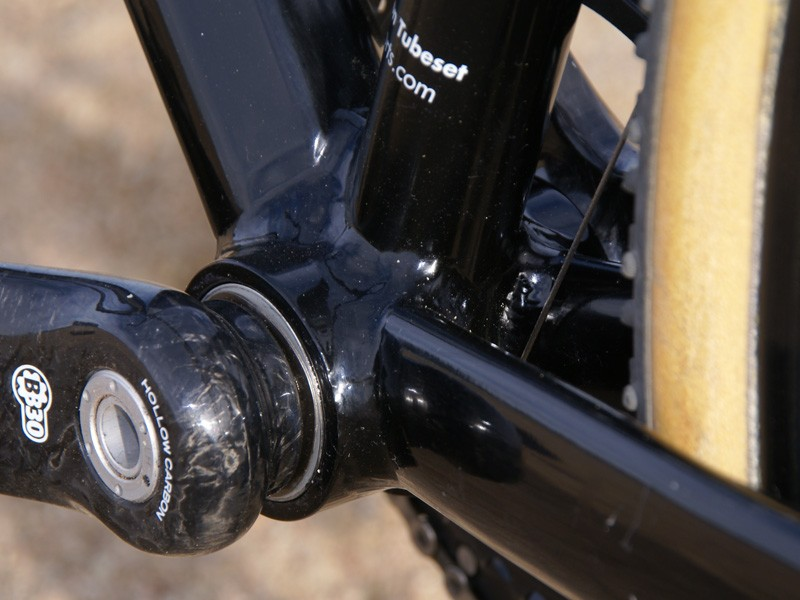 Our particular tester was a prototype frame equipped with a BB30 bottom bracket shell.