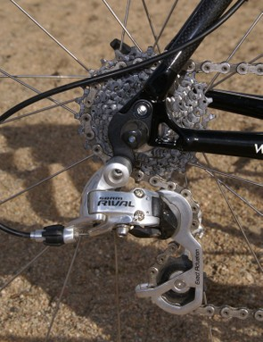Our Rival rear derailleur never complained over nearly a year of hard use.