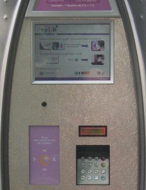 Paris: Velib credit card technology