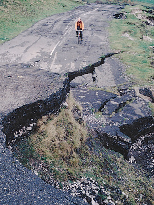 A very big pothole
