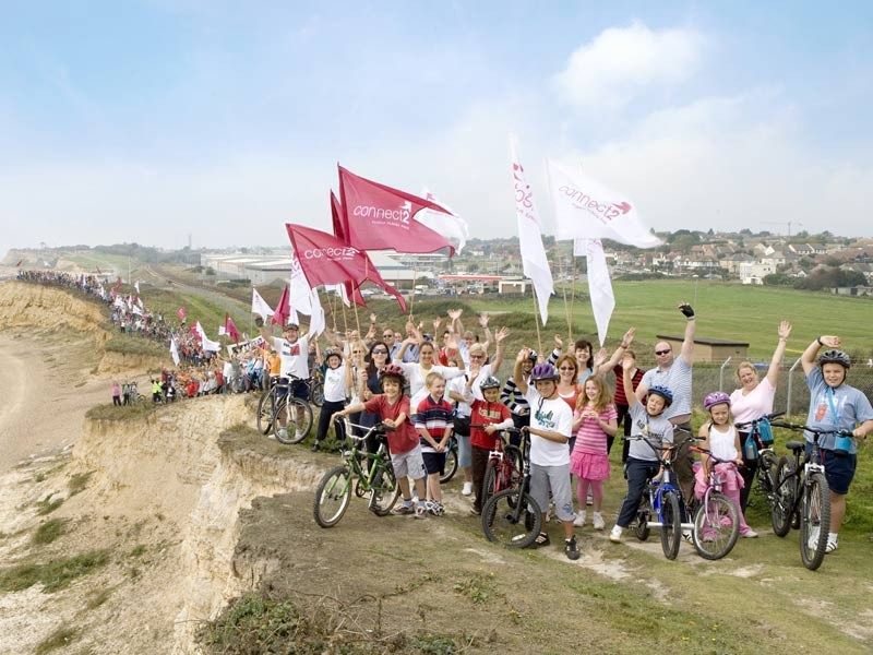 There was a massive turnout for Connect2 photocall for Hastings & Bexhill's scheme
