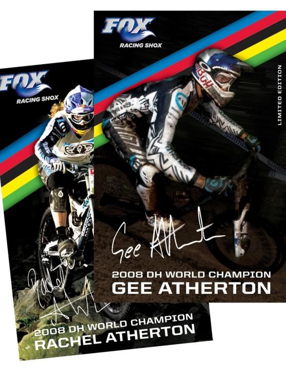 Fox's world champions, Rachel and Gee Atherton