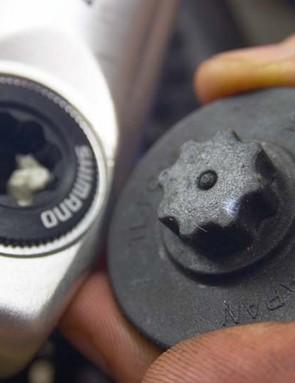 Shimano cranks use a specific tool to tighten the preload cap