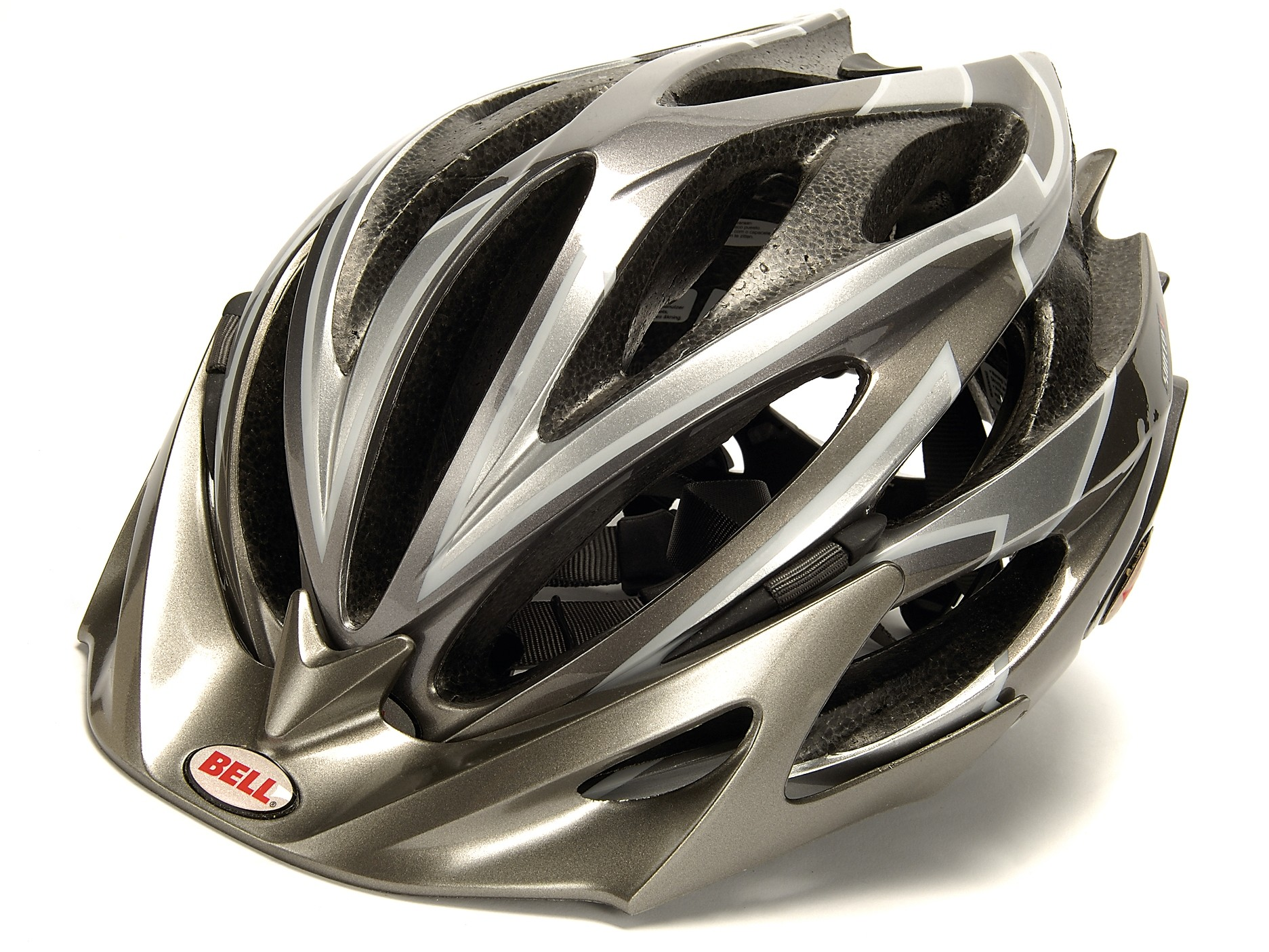 A cycling helmet is a ventilated polystyrene shell that's intended to provide some protection to the
