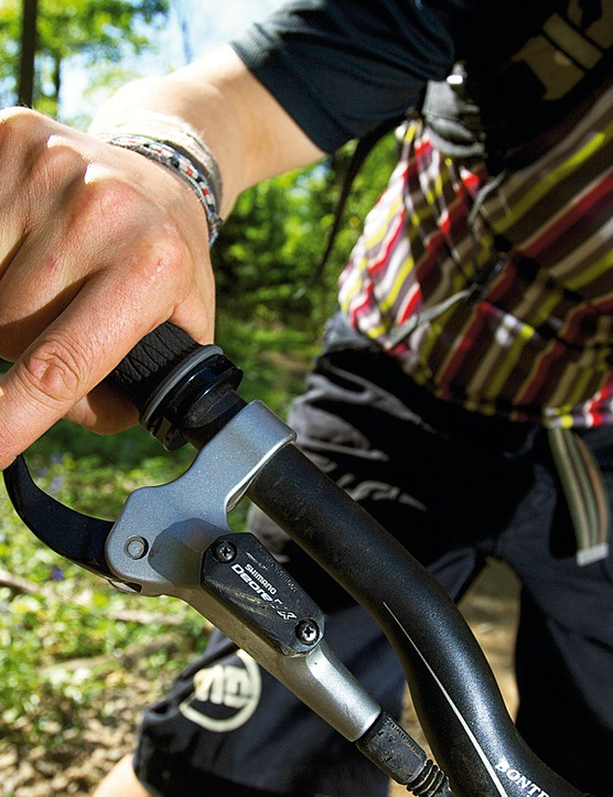 Lay off the back brake altogether to increase your confidence in using the front brake. Keep your we