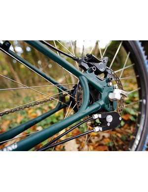 Clever Rohloff-specific dropouts make for a real quick-relase rear