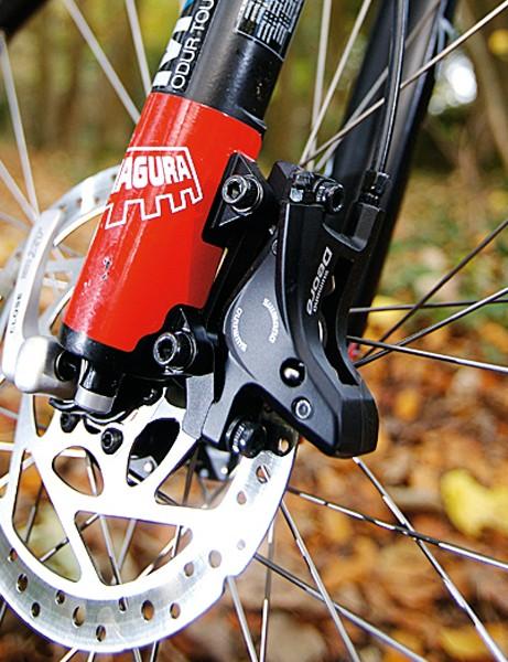 Dependable Magura fork & Shimano Deore brake