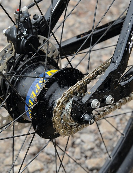 The Rohloff rear hub makes for a fuss-free transmission