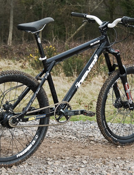It looks like a cross-country rig, but it's built like a hardcore hardtail