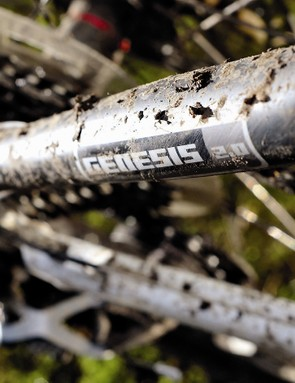 Carbon seatstays are shaped to avoid clipping your calves — in theory, anyway