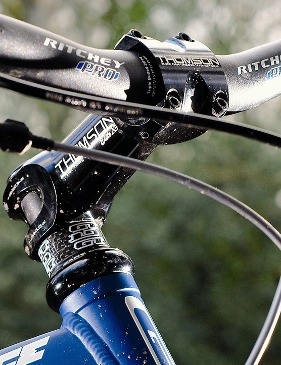Ritchey bars and Thomson stem are a quality combination
