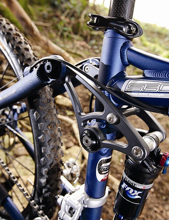 The rocker linkage makes for very effective shock control