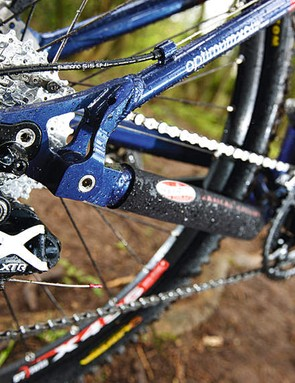 XTR mech out back is paired with LX front mech/shifters