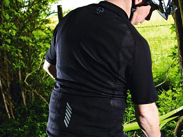 The mesh sections help you stay cool when riding hard