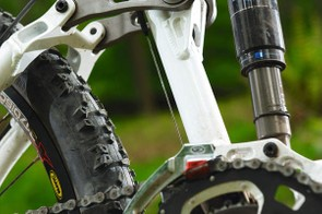 Rear wheel travel can be switched between 97mm and 116mm