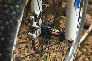 Svelte 24-spoke Mavic wheels plus  Avid Juicy 5 brake