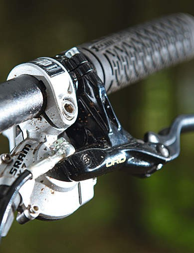 SRAM drivetrain is slick; Formula Oro brakes are powerful and reliable