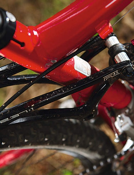 Elegant rocker-activated single pivot connects Fox RP2 shock to frame