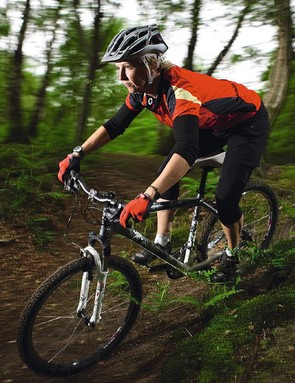 Ideal riding position inspires confidence and aids climbing – great for beginners
