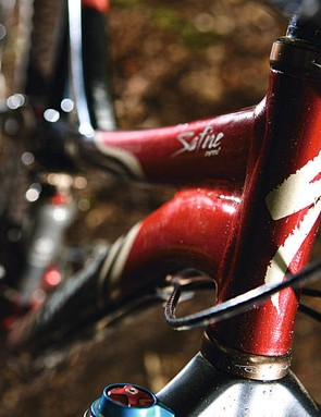 Frame uses M5 alloy tubing that has been adapted for lighter riders