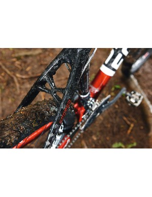 Full carbon frame is sculpted for maximum strength and stiffness