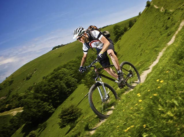 Handling is great, if not as lively over bumps as a normal mountain bike