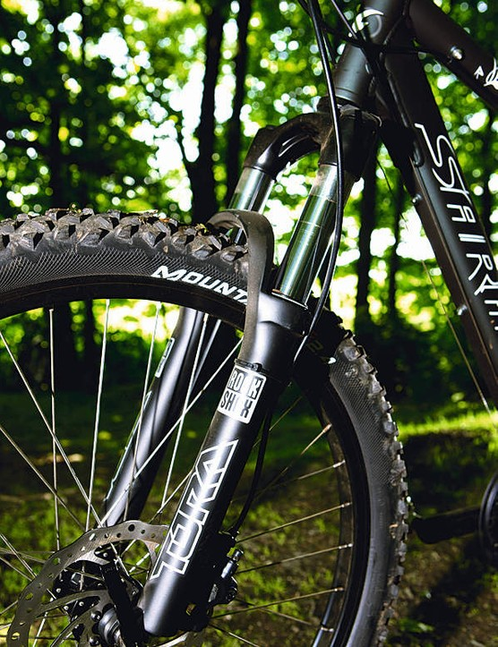RockShox Tora, 85-130mm travel using U-Turn travel adjust