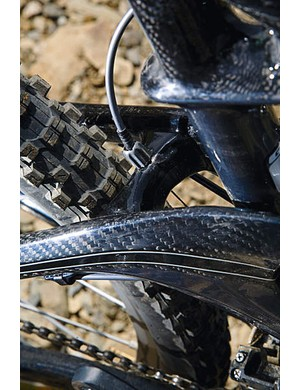 Plenty of tyre room to cope with heavy-duty items like the Kenda Nevegals