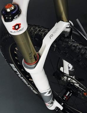 The RockShox SID Team fork has a BlackBox titanium spring tube