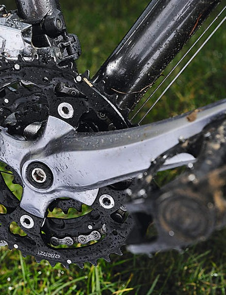 Short cranks complement the SRAM X5 groupset