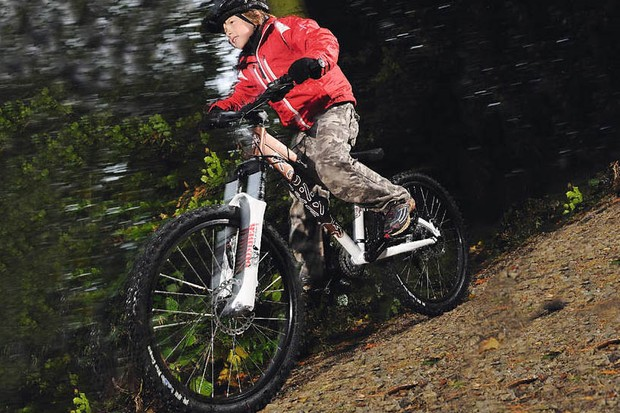 KThe Stuff is a tough, confident bike for trails and stunts