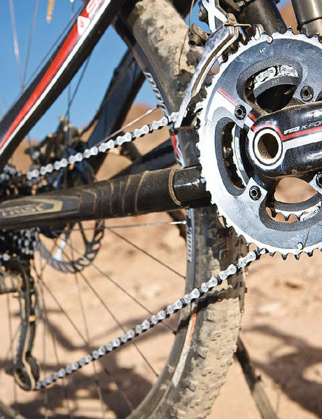 The custom FSA Force Lite crankset
