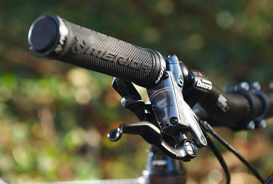Merida lock-on grips are a good trail touch