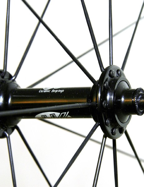 We don't have a weight for the front hub but its minimal appearance suggests it's pretty light.