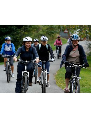 Local women at the last female-only biking session in Hamsterley Forest last September