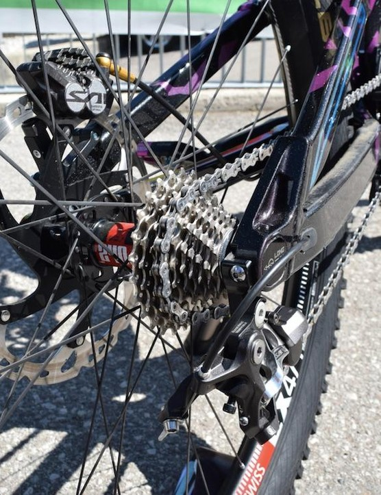 A full 10-speed cassette — not many of them on show here