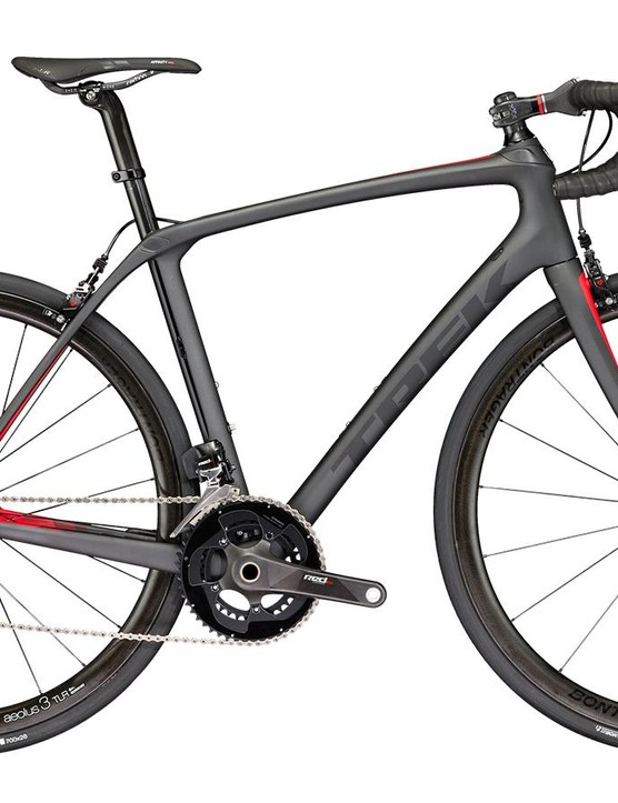 The new Trek Domane SLR 9 with SRAM eTap and adjustable-clearance brake calipers
