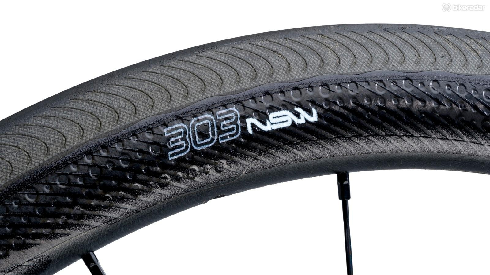 Zipp's Showstopper brake track on the new 303 NSW