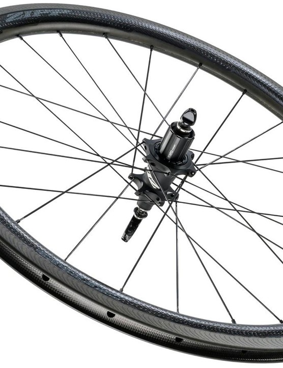 The NSW design is measurably more stable in crosswinds than wheels of the same depth, Zipp says