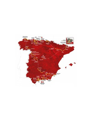 The 2018 Vuelta a España route map