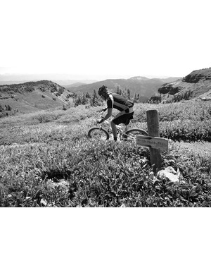 Gary Fisher himself found the scenery so amazing he was shocking into monochrome