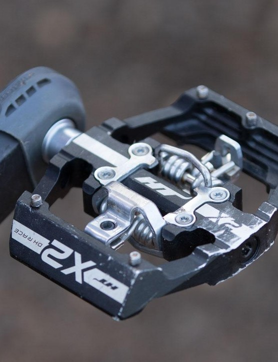 A pedal Gwin co-designed. The HT X2 is a downhill-specific clipless pedal