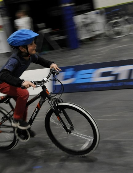 The main test track will be a dedicated kid's test track, where younger visitors can try out the latest bikes