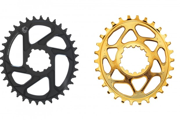 AbsoluteBlack (right) thinks SRAM (left) copied its design with the newly release Eagle Oval rings. What do you think?